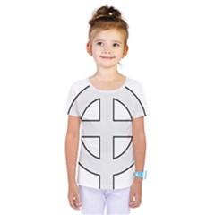 Celtic Cross  Kids  One Piece Tee by abbeyz71