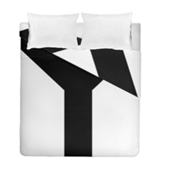 Forked Cross Duvet Cover Double Side (full/ Double Size) by abbeyz71