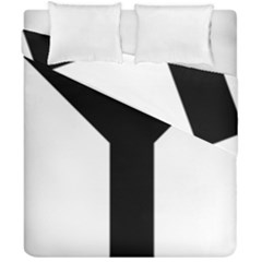 Forked Cross Duvet Cover Double Side (california King Size) by abbeyz71