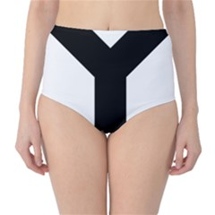 Forked Cross High Waist Bikini Bottoms by abbeyz71
