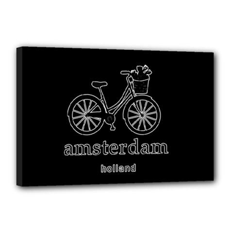 Amsterdam Canvas 18  X 12  by Valentinaart