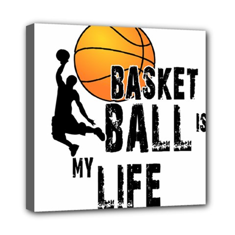 Basketball Is My Life Mini Canvas 8  X 8  by Valentinaart