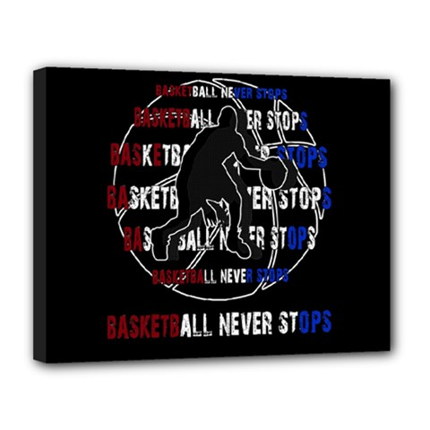 Basketball Never Stops Canvas 14  X 11  by Valentinaart