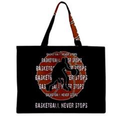 Basketball Never Stops Medium Zipper Tote Bag by Valentinaart