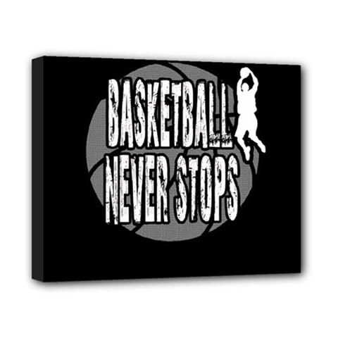 Basketball Never Stops Canvas 10  X 8  by Valentinaart