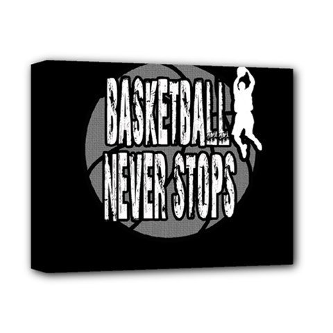 Basketball Never Stops Deluxe Canvas 14  X 11  by Valentinaart