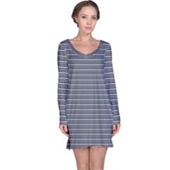 Decorative Lines Pattern Long Sleeve Nightdress by Valentinaart