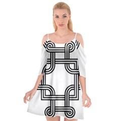 Macedonian Cross Cutout Spaghetti Strap Chiffon Dress