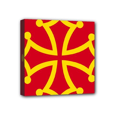 Flag Of Occitania Mini Canvas 4  X 4  by abbeyz71
