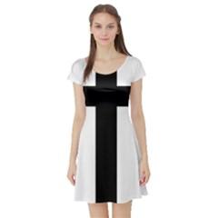 Patriarchal Cross Short Sleeve Skater Dress by abbeyz71
