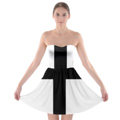 Patriarchal Cross Strapless Bra Top Dress by abbeyz71