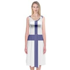Patriarchal Cross Midi Sleeveless Dress by abbeyz71