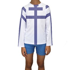 Patriarchal Cross Kids  Long Sleeve Swimwear by abbeyz71