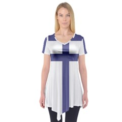 Patriarchal Cross Short Sleeve Tunic  by abbeyz71