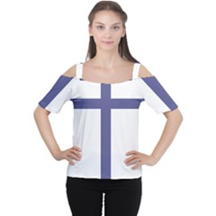 Patriarchal Cross  Women s Cutout Shoulder Tee by abbeyz71