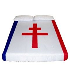 Flag Of Free France (1940 1944) Fitted Sheet (california King Size) by abbeyz71