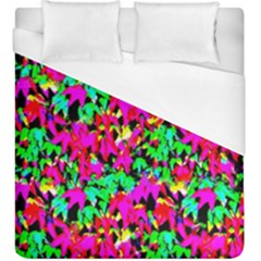 Colorful Leaves Duvet Cover (king Size) by Costasonlineshop