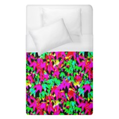 Colorful Leaves Duvet Cover (single Size) by Costasonlineshop