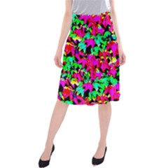 Colorful Leaves Midi Beach Skirt by Costasonlineshop