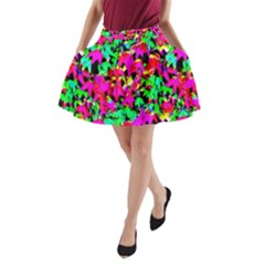 Colorful Leaves A Line Pocket Skirt by Costasonlineshop