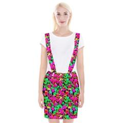 Colorful Leaves Braces Suspender Skirt by Costasonlineshop