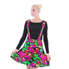 Colorful Leaves Suspender Skater Skirt by Costasonlineshop