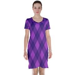 Pattern Short Sleeve Nightdress by Valentinaart