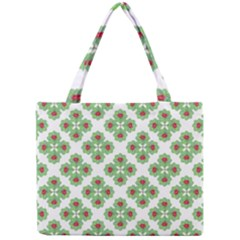 Floral Collage Pattern Mini Tote Bag by dflcprints