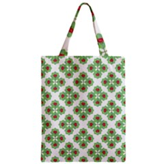Floral Collage Pattern Zipper Classic Tote Bag by dflcprints