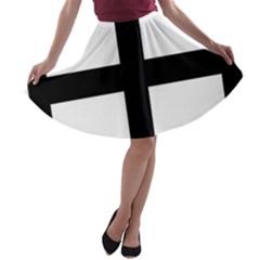 Cross Potent  A Line Skater Skirt by abbeyz71