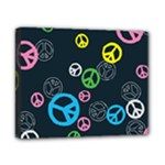 Peace & Love Pattern Canvas 10  x 8
