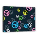 Peace & Love Pattern Canvas 16  x 12