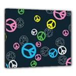 Peace & Love Pattern Canvas 24  x 20