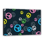 Peace & Love Pattern Canvas 18  x 12