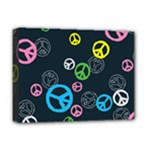 Peace & Love Pattern Deluxe Canvas 16  x 12