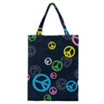Peace & Love Pattern Classic Tote Bag