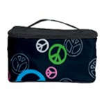 Peace & Love Pattern Cosmetic Storage Case