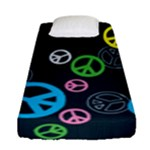 Peace & Love Pattern Fitted Sheet (Single Size)