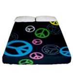 Peace & Love Pattern Fitted Sheet (Queen Size)