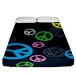 Peace & Love Pattern Fitted Sheet (King Size)