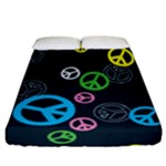 Peace & Love Pattern Fitted Sheet (California King Size)