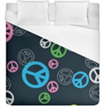 Peace & Love Pattern Duvet Cover (King Size)