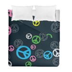 Peace & Love Pattern Duvet Cover Double Side (Full/ Double Size)