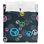 Peace & Love Pattern Duvet Cover Double Side (Queen Size)