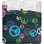 Peace & Love Pattern Duvet Cover Double Side (King Size)