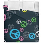 Peace & Love Pattern Duvet Cover Double Side (California King Size)