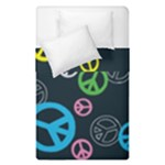 Peace & Love Pattern Duvet Cover Double Side (Single Size)
