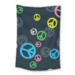 Peace & Love Pattern Small Tapestry