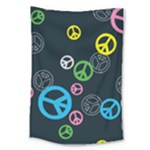 Peace & Love Pattern Large Tapestry