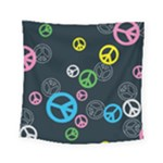 Peace & Love Pattern Square Tapestry (Small)